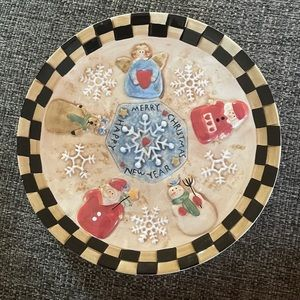 Home Interiors Christmas Hanging Plate